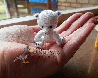 Miniature Big Head Bear Toy- MADE to ORDER - Baby bear, teddy, stuffed animal
