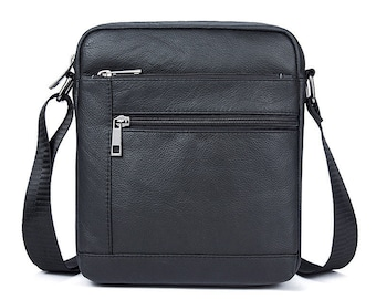 Genuine Leather Men's Bags Crossbody Bags Flap Male Messenger Bag Men Leather Small iPad Holder Shoulder Bag naturally