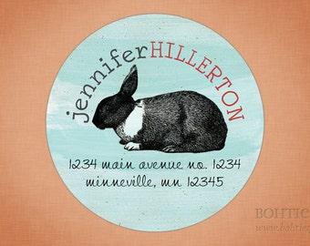 Vintage Bunny Rabbit Easter Return Address Labels