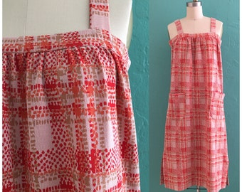 vintage 60's plaid jumper dress // plaid dress