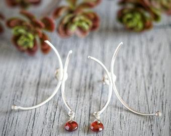 Sterling Silver Asymmetrical Earrings