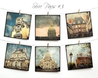 Set of six postcards 14x14cm - series Paris 03