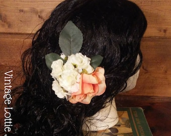 Rose and Cherry Blossom Hair Flower