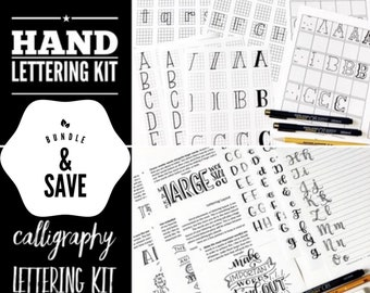 Bundle: Brush Calligraphy AND Hand Lettering Kit