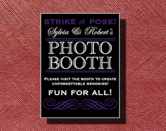 Wedding Reception Photo Booth Sign or Poster DIY Print Ready