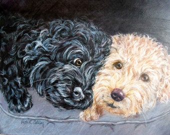 Custom Pet Portrait Oil Painting, Personalized Dog Portrait, International Shipping