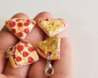 Pizza charm.Pepperoni pizza charm. Cheese pizza charm.Pizza planner charm.Pizza lover gift. Pizza stitch marker.Realistic pizza charm.