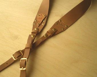 Leather Camera strap Personalized Leather Camera straps Monogram Camera strap DSLR camera strap Light Brown Leather strap 118 cm