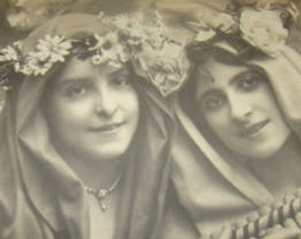 SALE Vintage RPPC 3 Pretty Girls #4