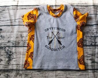 Gryffindor Quidditch   Short Sleeve Harry Potter Shirt   Harry Potter Baby    Harry Potter Kid   Harry Potter Birthday   Birthday Shirt