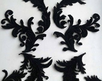 Moks89(p) set black baroque leys Embroidered Patches