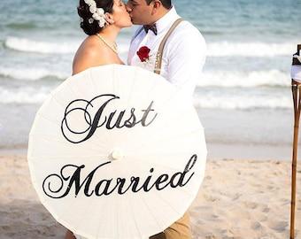 Just Married UK Wedding Umbrella Parasol Photo Prop