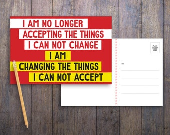 I Am Changing PRINTABLE Protest Postcard | Anti-Trumo Political Postcards