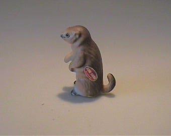 Vintage 1960's miniature bone china gopher - Japan