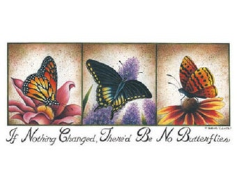 Butterfly Change T Shirt, Quilt Fabric Block, Tote Bag, Apron, (Sweatshirt,  Hoodie Available On Request) #577b