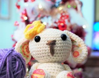 Crochet Bunny, Amigurumi Bunny, Plush Bunny, Spring Bunny, Valentine Bunny, Plush Toy, Handmade Bunny, Easter Bunny, White Bunny