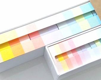 Set 12 pastello Washi nastro - rosa - blu - verde - Macaron - Deco Masking Tape