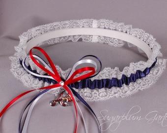 Atlanta Braves Lace Wedding Garter