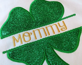 Personalized Irish St. Patrick's Day t-shirts Embroideried Applique T-Shirt Childrens t-shirt kids t-shirt girls shirt St. Pattys Day
