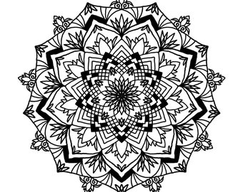 Downloadable Mandala Designs and Prints Coloring Pages (set of 5) SET A21