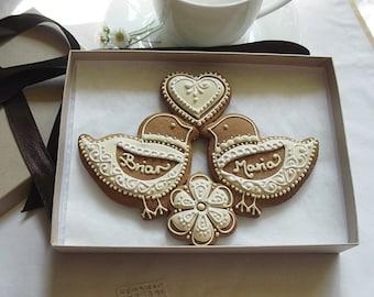Lovebirds Engagement/Wedding Cookie Gift