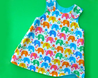Reversible Baby Dress Pattern PDF - The Perfect A Line Dress Pattern for Baby and Toddler