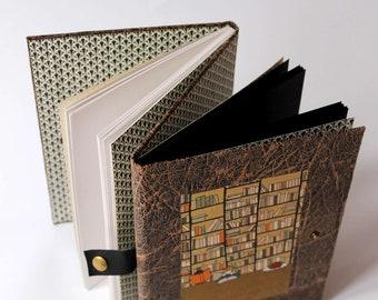 Double notebook, double Sketchbook, Diary, manual, white and black paper