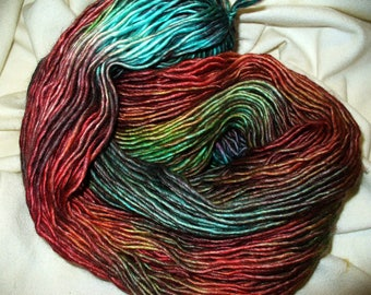 Hand Dyed Yarn for Knitting or Crochet