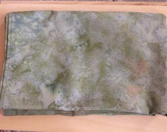 Marbled Green Altar Cloth - spread cloth, pagan tools, 100% cotton