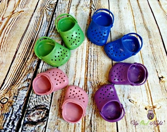 "Doll Clogs, Shoes for 18"" Girl Dolls -- Doll Sewing Supply -- Free Shipping"