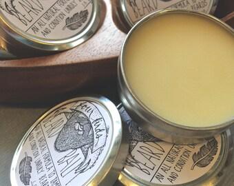Conditioning Beard Balm - All Natural { beard wax / all natural / men's bath and body / beard care / beard grooming / beard butter }