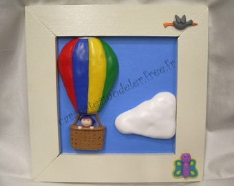 Decorative painting journey through the clouds balloon