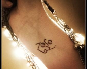 Zoso tattoo temporary tattoo Jimmy Page tattoo fake tattoo Led Zeppelin tattoo symbol