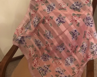 Beautiful pink large square scarf
