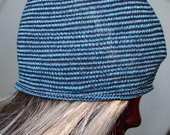 EXTRA Wide Blue Dreadlock Headband, Blue, Dreadlock Accessories, Knit Dreadband, Headbands for Dreads, Dreadwrap, Blue Dreads, Sweatband