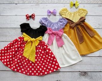 Mouse/ Duck/ Cow Dress Size 1/2-14