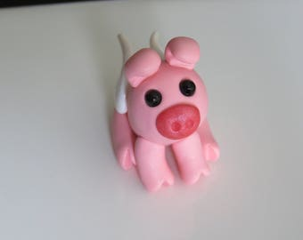 Pandora the polymer clay winged pig