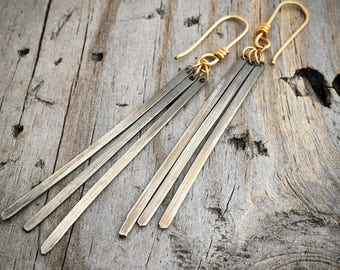 Gold Sterling Silver Earrings Handmade By Wild Prairie Silver Jewelry