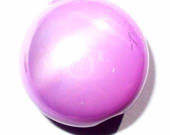 1 pad 17mm purple Pearl perlized AP271mauve
