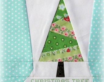 Christmas Tree Stocking, a Paper Piecing Pattern