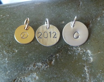 Add One Charm - Gold-filled 10mm OR Sterling Silver in 11mm or 12.6mm size - Finish Options