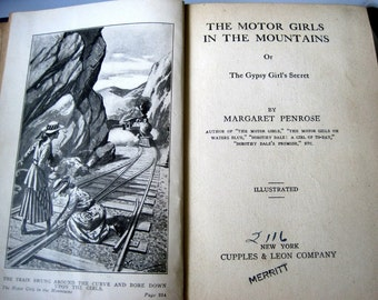 Book-The Motor Girls in the Mountains by Margaret Penrose. Copyright 1917.