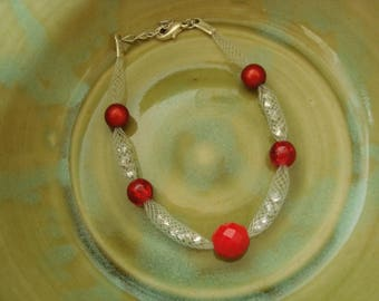 Original red and white bracelet