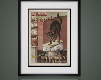 Framed Wall Art - VINTAGE ADVERTISING PRINT - Wall Art Sets - Available In 4 Sizes - Choose Black or Antique White Frames -