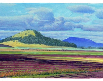 Wards Butte and Marys Peak- Painting
