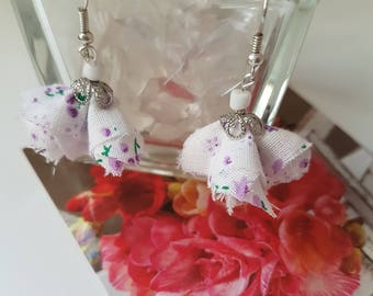 Stud Earrings fabric liberty