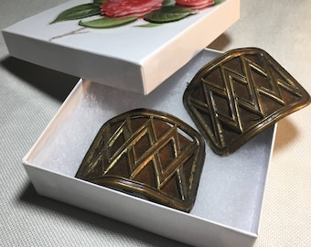 Vintage Jewelry Jewelry  French Steel Cut Shoe Clips Can Be Recycled, Repurposed or Upcycled To Create Something New