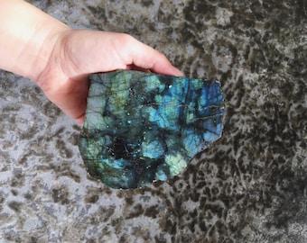 Mineral Specimen for sale - Labradorite Slab - Irridescent mineral - Display Specimen