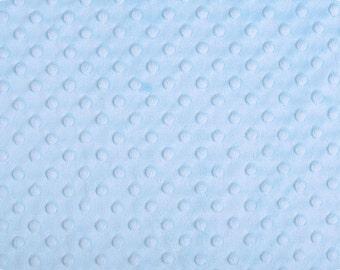 Bleu ciel fossette Minky à partir de tissus de Shannon - Choisissez votre coupe