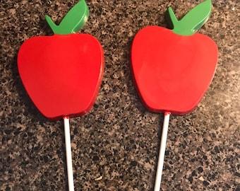Chocolate Apple Lollipops